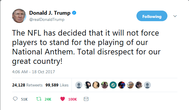 Screenshot-2017-10-22 Donald J Trump on Twitter The NFL has decided that it will not force players to stand for the playing[...]